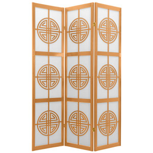 6-Foot Tall Long Life Shoji Screen - 3 Panel - Natural