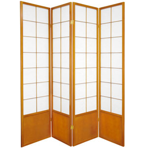 6 ft. Tall Zen Shoji Screen - Honey - 4 Panels