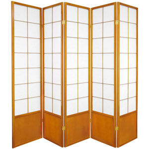 6 ft. Tall Zen Shoji Screen - Honey - 5 Panels