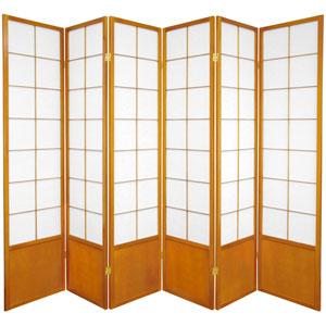 6-Foot Tall Zen Shoji Screen - Honey - 6 Panels