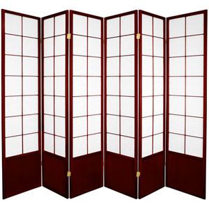 6-Foot Tall Zen Shoji Screen - Rosewood - 6 Panels