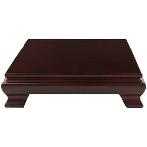 Rosewood Square Base Stand - 6 in.