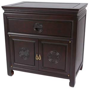 Bedside Cabinet Dark Rosewood
