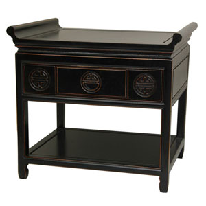 Rosewood Altar Table - Antique Black, Width - 24 Inches