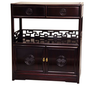 Rosewood Long Life Display Cabinet - Rosewood, Width - 30 Inches
