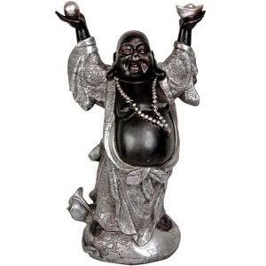 17 Inch Standing Prosperity Buddha Statue, Width - 10.5 Inches