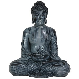 Multi-Colored 12-Inch Tall Japanese Sitting Buddha Statue