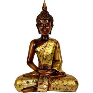 Thai Sitting Buddha Statue, Width - 12 Inches