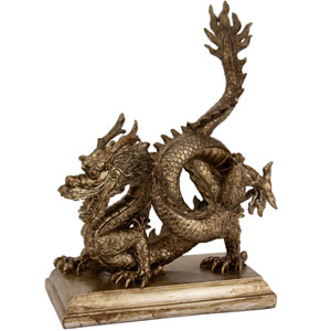 11-inch Chinese Dragon Statue