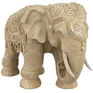 20-inch Ivory Elephant Statue