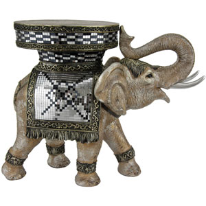 20-inch Standing Elephant Statue
