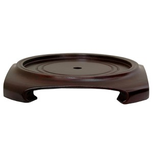 Rosewood 7.5-Inch Wide Vase Stand