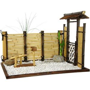 Zen Bamboo Mini Garden, Width - 27.5 Inches