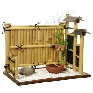 Zen Bamboo Mini Rock Garden, Width - 19.5 Inches