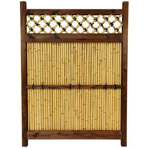 Japanese Bamboo Zen Garden Fence, Width - 34.5 Inches
