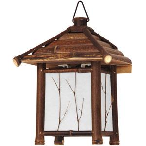 12-inch Japanese Bamboo Pagoda Lantern - Dark