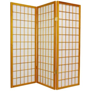 Honey 48-Inch Window Pane Shoji Screen