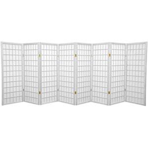 White Four Ft. Tall Window Pane Shoji Screen, Width - 138 Inches