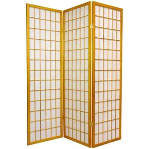 Honey 60-Inch Window Pane Shoji Screen