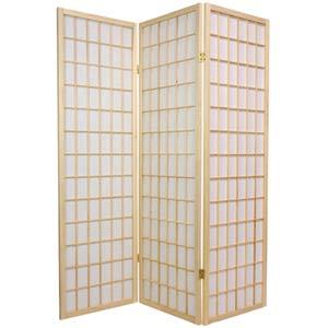 Natural 60-Inch Window Pane Shoji Screen