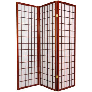 Walnut 60-Inch Window Pane Shoji Screen