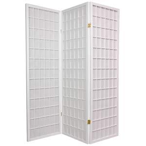 White 60-Inch Window Pane Shoji Screen