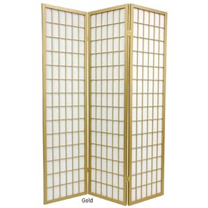 Gold Special Edition Window Pane Shoji Screen