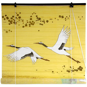 Cranes Shoji Blinds 36 Inch Yellow, Width - 36 Inches