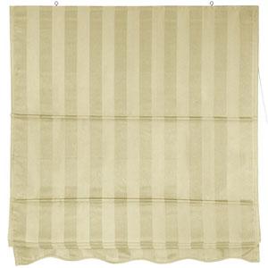 Striped Roman Shades - Cream 72 Inch, Width - 72 Inches