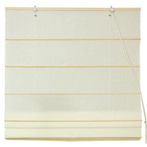 Cotton Roman Shades - Cream 48 Inch, Width - 48 Inches