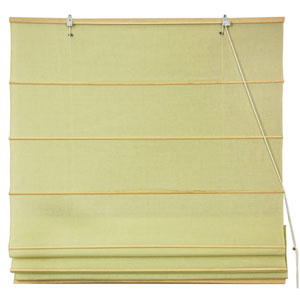 Cotton Roman Shades - Yellow Cream 60 Inch, Width - 60 Inches