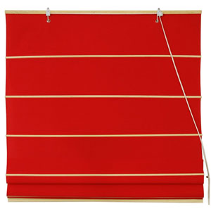 Cotton Roman Shades - Red 60 Inch, Width - 60 Inches