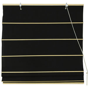Cotton Roman Shades - Black 72 Inch, Width - 72 Inches