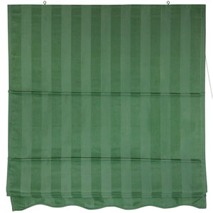 Striped Roman Shades - Green 72 Inch, Width - 72 Inches