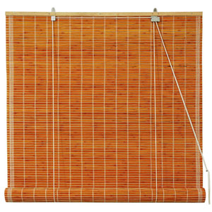 Burnt Bamboo Roll Up Blinds - Honey 60 Inch, Width - 60 Inches