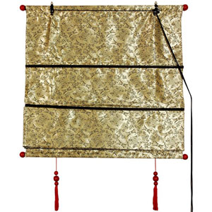 Shang Hai Tan Blinds - Gold 36 Inchx72 Inch, Width - 36 Inches