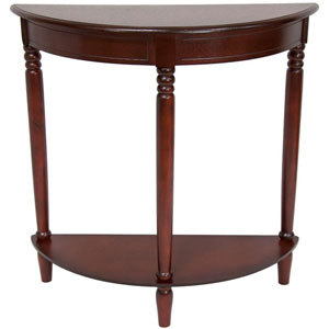 31 Inch Half Round Console Table Cherry, Width - 31.5 Inches