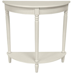 31 Inch Half Round Console Table White, Width - 31.5 Inches