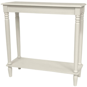 31 Inch Classic Design Hall Table White, Width - 31.5 Inches
