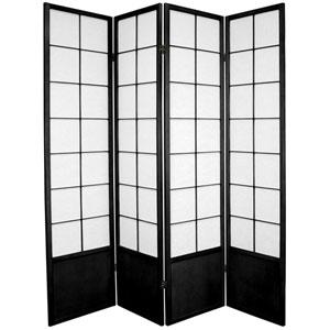 Zen Shoji Screen Black Four Panel, Width - 68 Inches