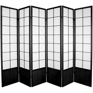 Zen Shoji Screen Black Six Panel, Width - 102 Inches