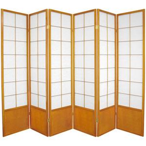 Zen Shoji Screen Honey Six Panel, Width - 102 Inches