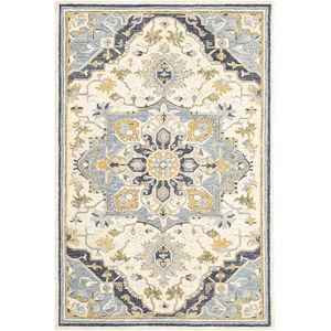 Alfresco Blue Ivory Rectangular: 10 Ft. x 13 Ft. Rug