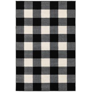 Georgia Black Rectangular: 3 Ft.10 In. x 5 Ft. 5 In. Rug