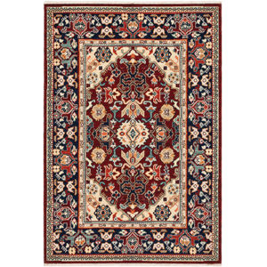 Lilihan Red Blue Rectangular: 5 Ft. 3 In. x 7 Ft. 6 In. Rug