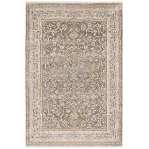 Maharaja Beige Gray Rectangular: 6 Ft. 7 In. x 9 Ft. 6 In. Rug