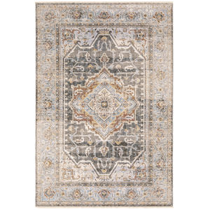 Maharaja Gray Blue Rectangular: 6 Ft. 7 In. x 9 Ft. 6 In. Rug
