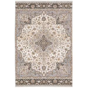 Maharaja Ivory Blue Rectangular: 6 Ft. 7 In. x 9 Ft. 6 In. Rug