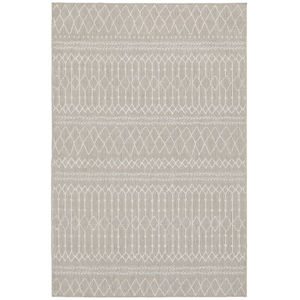 Portofino Gray Ivory Rectangular: 6 Ft. 7 In. x 9 Ft. 2 In. Rug