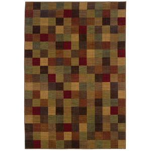 Allure Brown Rectangle: 5 ft. 3 in. x 7 ft. 6 in. Rug
